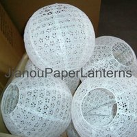 Wholesale of case quot Eyelet paper lanterns great look in wedding party homes baby room