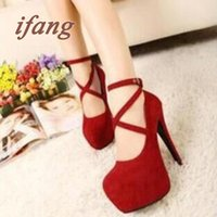 red bottoms heels - 2015 New High Heeled Shoes Woman Pumps Wedding Shoes Platform Fashion Women Shoes Red Bottom High Heels cm Suede