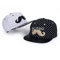 afl hats - mens snapback hats men caps vogue moustache logo dot flat brimmed hip hop fitted hats polo hats for men gorras basketball AFL