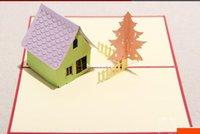 Wholesale 3d three dimensional paper cut greeting card handmade birthday greeting card gift paper art