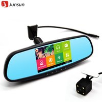 best dual monitors - Best inch Special Car DVR GPS Android Rearview mirror Bluetooth Monitor P Dual Lens Camera Video For Anti glare mirror