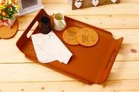 Wholesale zakka groceries Birch upscale boutique Storage tray as Multifunction Wooden Tableware Fruit plate