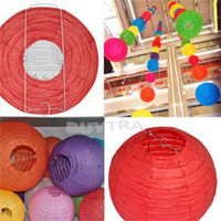 Wholesale 2014 New Multicolor Round Shape Paper Lanterns Wedding Decoration Party Supplies