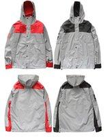 Wholesale Mens windbreaker Autumn Winter Suprem jacket M Flag reflective Outdoor Waterproof Windproof Sports sportswear hoody coats