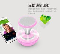 Wholesale Dancing Magic lights Mini Bluetooth Speakers Stereo Wireless Subwoofers Support FM AUS TF Card For Smart Phone PC Tablet