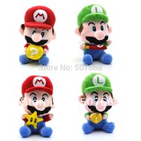 bats big lots - 100 inch New Super Mario Bros Mario Luigi With Star Money Baseball bat Bricks Plush Doll Toy