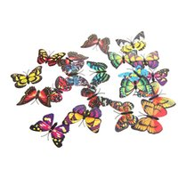 Wholesale 20pcs Pack cm D Artificial Butterfly Pin Clip Double Wing for Home Christmas Wedding Decoration