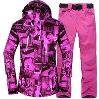 Wholesale ROSSIGONL Skiing and snowboarding suits waterproof thermal jacket and solid pants thick windproof for women
