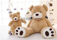 bear skin coat - CM Plush toy Big mouth Teddy bear coat empty toy skin Plush toys Giant toy Dark Brown Light Brown