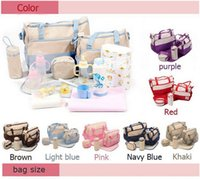 Wholesale Big size Color can choose Set kgs Mummy nappy zipper multifunctional solid Waterproof polyester maternitybaby diaper bag