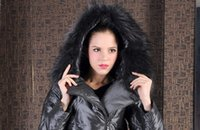 Wholesale 2016 SHENOWA Europe Style Women White Duck Down Real Fur Hooded Down Parkas Down Jacket Thick Russia Winter Down Colors