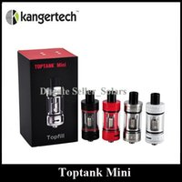 Wholesale Original Kanger Toptank Mini Atomizer ml Top Refilling Sub Ohm Tank with Delrin Drip Tip BLack SS Red White Authentic KangerTech