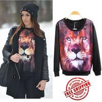 Wholesale New Plus Size Women Winter Coats Hot Selling The Tiger Hoodies Long Sleeve Pullover Women s Animal Hoodie Sweatshirt Sale