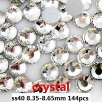Wholesale 144pcs crystal ss40 mm crystal glass Rhinestone flatback rhinestones silver foiled