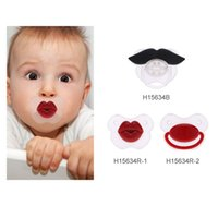 Wholesale High Quality Non toxic Silicone Lovely Infant Pacifier Infant Feeding ProductsChild Soother Nipple Red Lip Style H15634