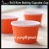 baking supplies shop - 50pcs Pretty Orange Paper Cupcake Cups Muffin Kitchen Case Cake Shop Supplies Baking Cup Party Decoration