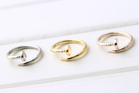 Wholesale Three Colors Silver Jewerly Rings Opening Adjustable Nail Rings For Men And Women Celebrity