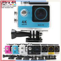 Wholesale Action camera H9 Ultra HD K WiFi P fps LCD D lens Helmet Cam go underwater waterproof camera SJ4000 pro style