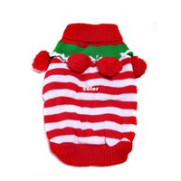 Wholesale 2014 Christmas Puppy Pets Cats Sweater Clothes Winter Dog Costume Products