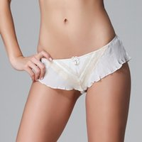 Wholesale New Arrival Fashion Women Luxury Chiffon Sexy Panties Plus Size Low Waist Ruffles Boyshorts Boxer Briefs Summer Lingerie