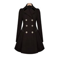 designer coats - Hot Classic Women Fashion British Long Style Elegant Trench Coat Designer Belted Double Trench Outerwear