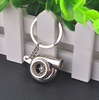 keyring - Lowest Price Most Popular Turbo KeyRing Keychains Personality Alloy Air Blower Key Ring Chain Turbine Turbocharger Sleeve Bearing