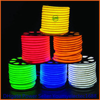 Wholesale 50m led M LED Neon Flex Red color soft neon light220V V waterproof flexible led strip rope light