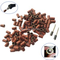 Cheap 150pcs Sanding Drums Bands Sleeves 6.35mm Nuclear Wood Carving Abrasive Tools W  2pcs 3.175mm Mandrels For Dremel Rotary Tool order<$18no tr