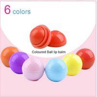 Wholesale Round Ball D Lipstick Makeup Moisturizing lip balm Natural Plant Sphere lip Pomade lip balm Fruit Embellish lip Care colors