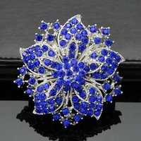 Wholesale Top Grade Silver Brooches Hot Sale New Fashion Crystal Rhinestone Flower Bouquet Butterfly Brooch Pins Free Ship DR