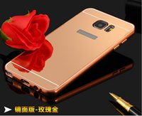 For LG galaxy note 2 - Mirror Luxury Metal Aluminum Bumper Frame PC Back Cover for Samsung Galaxy NOTE Galaxy NOTE Galaxy NOTE n9100 Galaxy NOTE n9200 p
