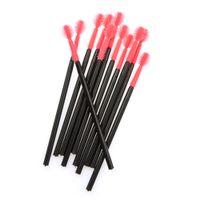 best gel mascara - New make up brush Pink Silica Gel One Off Disposable Eyelash Brush Mascara Applicator Wand Brush best deal
