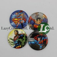 Wholesale 240pcs Sheets Superman Badges Pin Buttons Pins cm Round Brooch Badge Kids Children Party Favor
