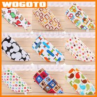 Wholesale 2016 Fashion Baby Bib Saliva Towels Infant Cartoon Triangle Towel Triangular Bandage Kids Pure Cotton Burp Cloths pc