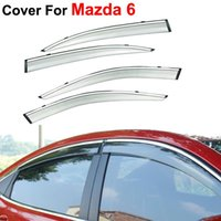 awnings for windows - 4pcs Car Styling Awnings Shelters Rain Sun Window Visor For Mazda Stickers Covers Accessories