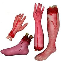 Wholesale Sample Order Halloween Fake Bloody Hand Latex Cut Off Bloody Lifesize Arm Horror Toys Halloween Party Props S30140