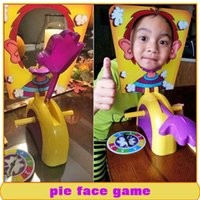 Wholesale Korea Running Man Pie Face Game Cream Hit Face Home Running Man Pie Face Game Novelty Fun Anti Stress Prank Funny Rocket Toys