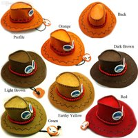 Wholesale ANIME ONE PIECE White Beard Pirate Team Ace Cosplay Cowboy Hat Bead Necklace Cap Cosplay Gift