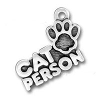 cat charms - Online Alloy CAT PERSON Letter Charm With Paw AAC138