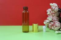 Wholesale 100pcs Essential oil bottles ML EMPTY PERFUME ROLL ON ROLLER BALL GLASS BOTTLE and Perfume bottles