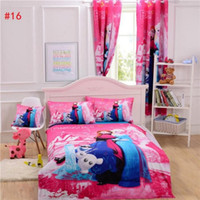 Wholesale 5pcFrozen Bedding Curtain Duvet Cover Sheet Pillow Case Cushion Cover Bedlinen Mickey Mouse Bedding Sets Single Double Queen