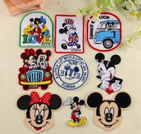 Wholesale 5 cm Cartoon Cloth Patches Mickey Mouse Mickey Minnie Garment Applique DIY Accessories H12