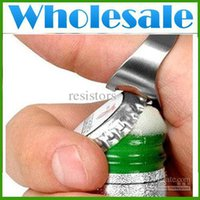 Wholesale Stainless Steel Finger Ring Bottle Opener Bar Beer tool Fedex DHL Lots1000