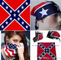 battle red - 60pcs cm cotton confederate headband flag hiphop bandanas civil war battle bandana headwrap civil war flag outdoor kerchief