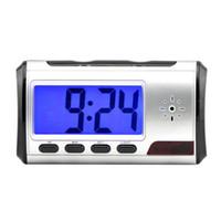 Wholesale Hidden Spy Camera Alarm Shape Mini DVR Wireless Remote Camcorder Motion Detector Security Cam Clock Video Recorder P