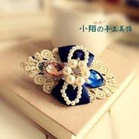 La pequeña calle pega los accesorios coreanos hechos a mano del clip de la tapa de la flor de la cabeza de la horquilla de los accesorios del pelo que envía libremente la tiara cristalina Dazs Corea