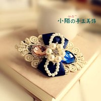Wholesale Small street stones handmade Korean hair accessories hairpin head flower top clip accessories crystal tiara Dazs Korea