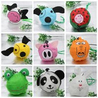 Cartoon shopping - MIC New Cute Useful Animal Bee Panda Pig Dog Rabbit Foldable Eco Reusable Shopping Bags Styles