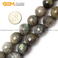 Wholesale Labradorite Beads Round Faceted Selectable mm Natural Stone Beads For Jewelry Making Diy Bracelet