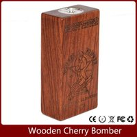 apc battery connector - APC mod Wooden Cherry Bomber Box Mod log rosewood color Wood Mechanical Connector fit Battery for doge v4 RDA RBA Atomizers